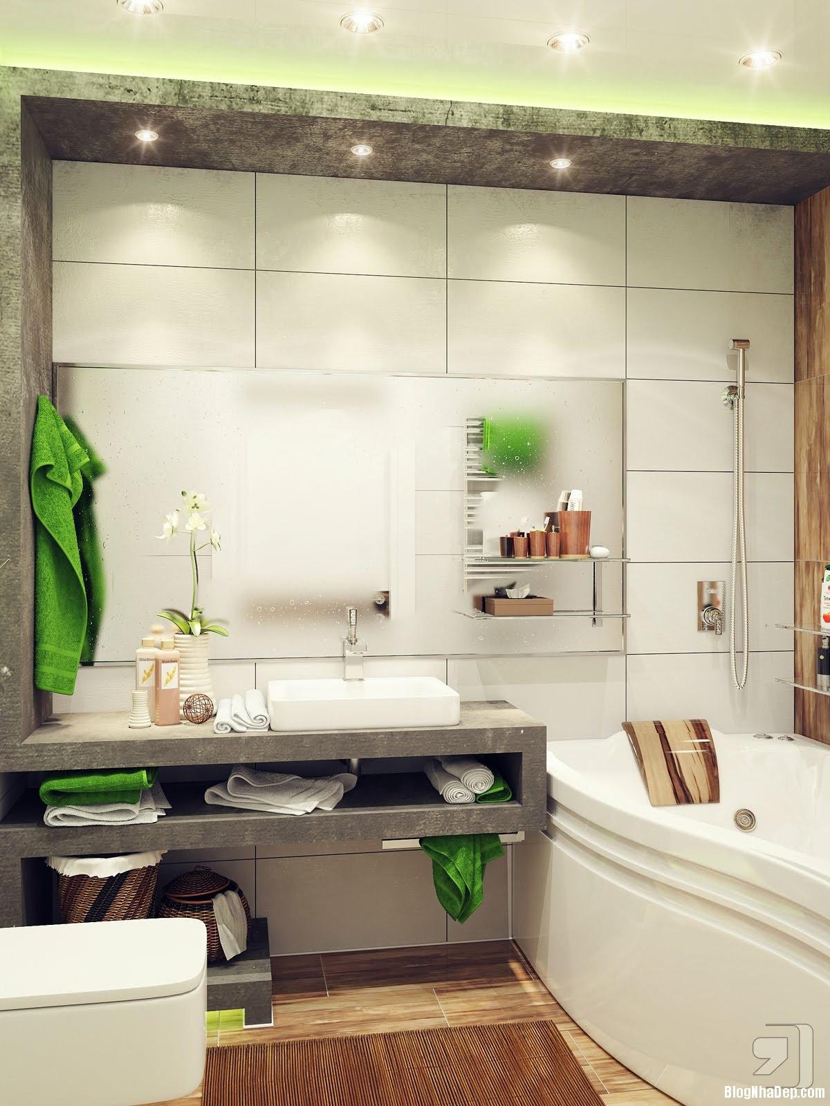 20140718012351851 Tham khảo cách bố trí cho phòng tắm nhỏ