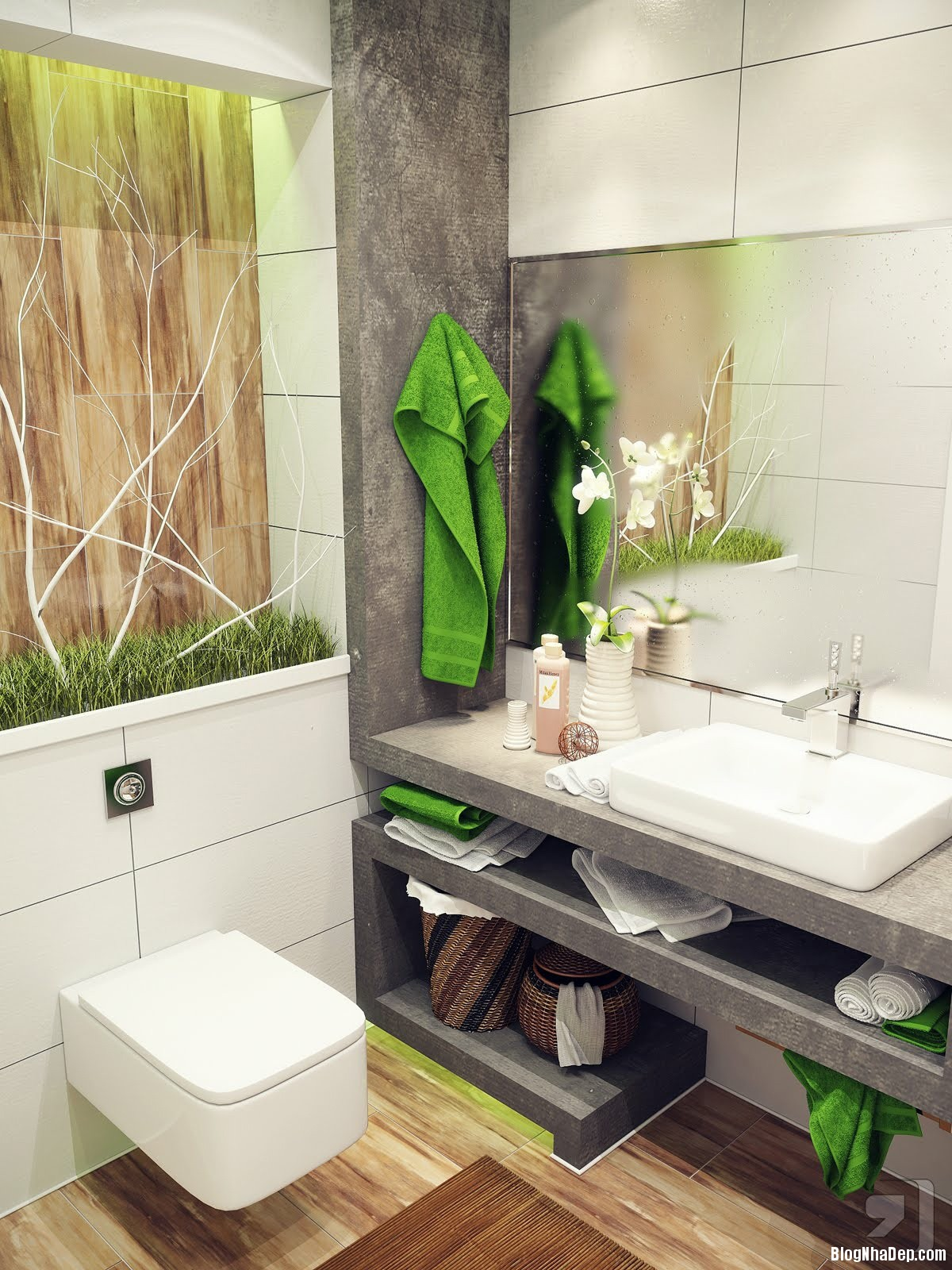 20140718012356500 Tham khảo cách bố trí cho phòng tắm nhỏ