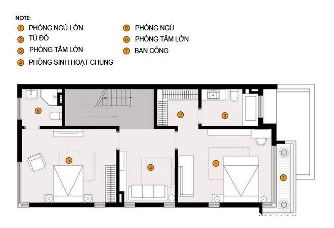 20140718075216786 Thiết kế không gian sống cho gia đình đông người