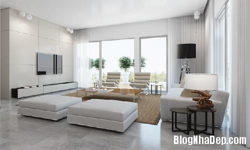 233244baoxaydung 1 Bố trí đơn giản cho không gian phòng khách