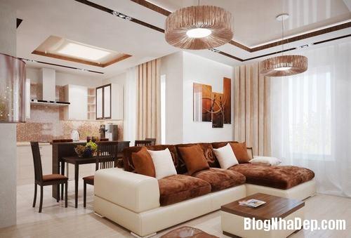 233245baoxaydung 3 Bố trí đơn giản cho không gian phòng khách