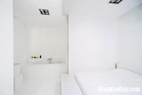 CANHO5 Căn hộ màu trắng hiện đại ở thành phố Paris