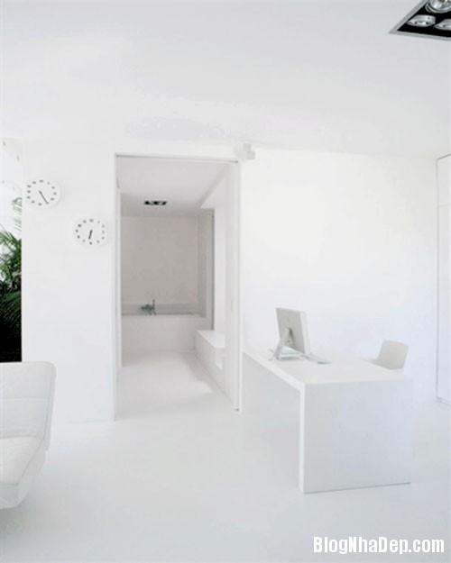 CANHO7 Căn hộ màu trắng hiện đại ở thành phố Paris