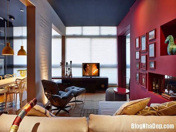 Hình 1 Mẫu nhà cung cư đẹp1 Mẫu chung cư đầy màu sắc ở Brazil