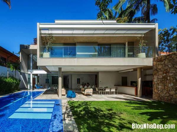 Hình 1 thiết kế nhà đẹp với sự sáng tạo trong không gian MG Residence   Nhà hiện đại nằm ở ngoại ô Brazil