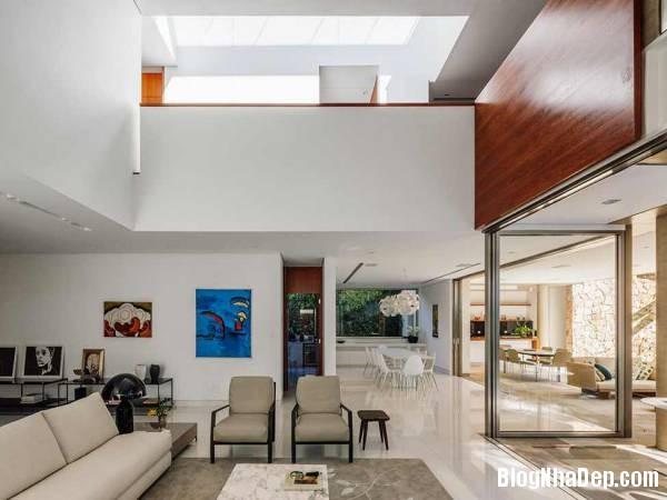 Hình 10 thiết kế nhà đẹp với sự sáng tạo trong không gian MG Residence   Nhà hiện đại nằm ở ngoại ô Brazil
