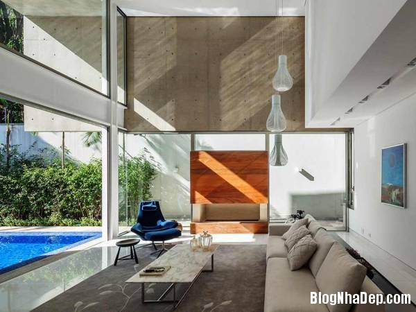 Hình 15 thiết kế nhà đẹp với sự sáng tạo trong không gian MG Residence   Nhà hiện đại nằm ở ngoại ô Brazil