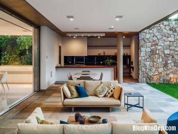 Hình 16 thiết kế nhà đẹp với sự sáng tạo trong không gian MG Residence   Nhà hiện đại nằm ở ngoại ô Brazil