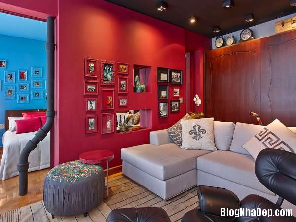 Hình 6 Mẫu nhà cung cư đẹp Mẫu chung cư đầy màu sắc ở Brazil
