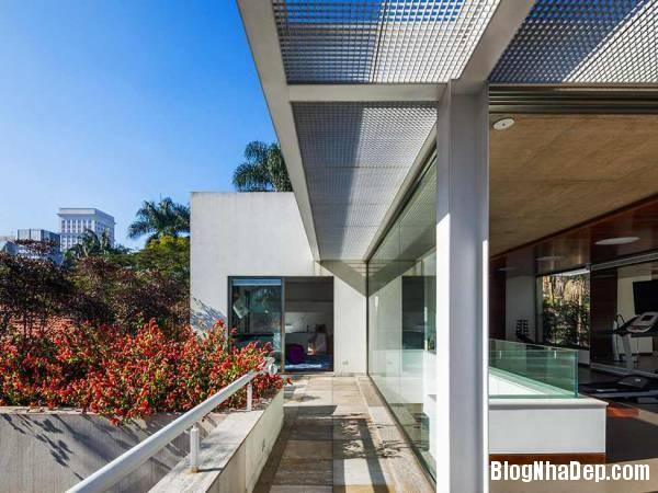 Hình 7 thiết kế nhà đẹp với sự sáng tạo trong không gian MG Residence   Nhà hiện đại nằm ở ngoại ô Brazil