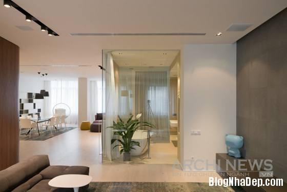 Hình 8 phòng 8 đơn giản hiện đại với phong cách tối giản Căn hộ cao cấp theo phong cách tối giản ở Nga