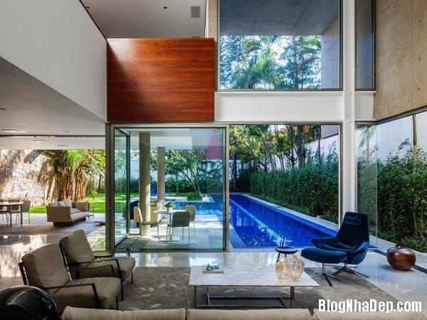 Hình 8 thiết kế nhà đẹp với sự sáng tạo trong không gian MG Residence   Nhà hiện đại nằm ở ngoại ô Brazil