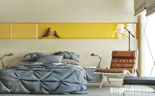 Modern Bedroom 1 600x373 Những phòng ngủ gam màu trung tính