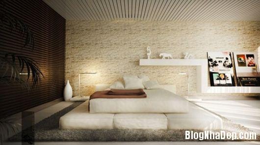 Modern Bedroom 2 600x335 Những phòng ngủ gam màu trung tính