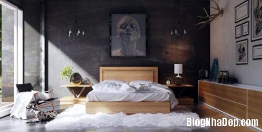 Modern Bedroom 7 600x302 Những phòng ngủ gam màu trung tính