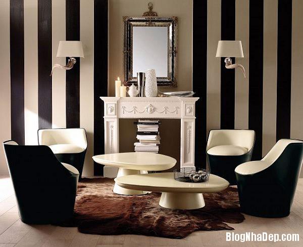 Stripes Wallpapering For Li Thiết kế phòng ấn tượng với họa tiết kẻ sọc
