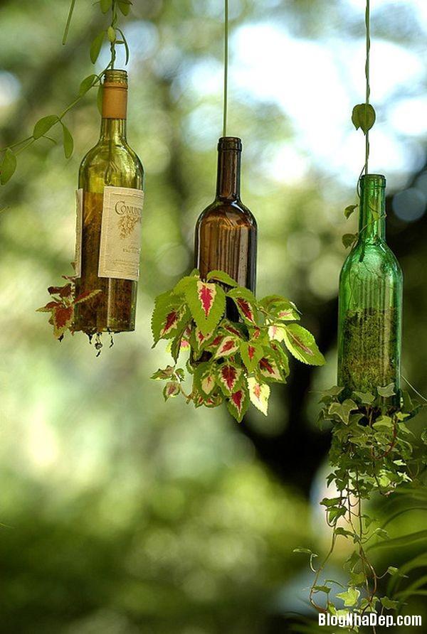 bottle 2 1401374892 Khéo tay tận dụng chai lọ cũ làm đồ trang trí