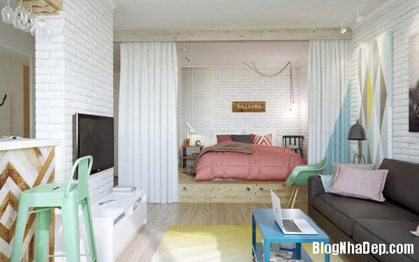 can ho 45m duoc thiet ke de thuong 3 Căn phòng với thiết kế gọn gàng ở Moscow, Nga