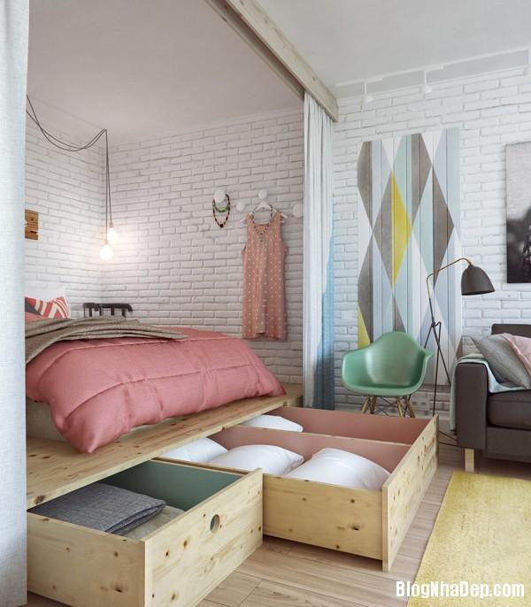 can ho 45m duoc thiet ke de thuong 4 Căn phòng với thiết kế gọn gàng ở Moscow, Nga