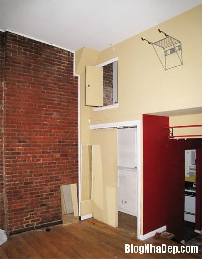 can ho 40 m2 lot xac sau khi cai tao 0 Lột xác cho căn hộ cũ kỹ 40m2 ở New York