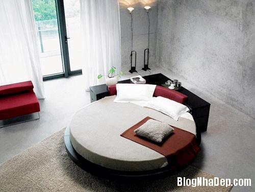 giuong tron6  Sự quyến rũ của những chiếc giường tròn