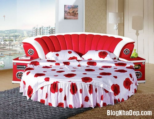 giuong tron7  Sự quyến rũ của những chiếc giường tròn