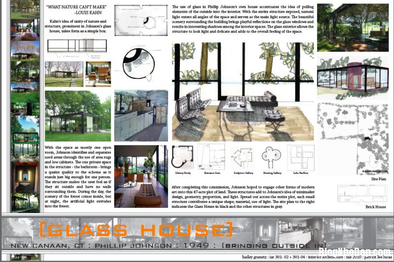 glass house 1 800x532 Say mê với kiến trúc nhà kính của Glass House