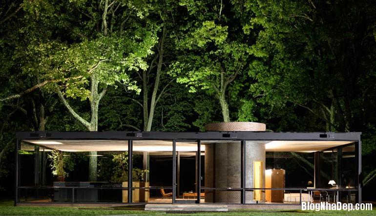 glass house 18 Say mê với kiến trúc nhà kính của Glass House