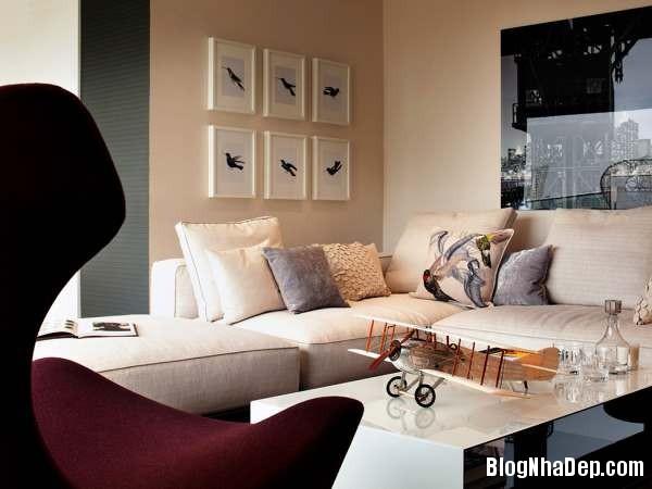 hình 3 phong khach am cung Căn hộ penthouse sang trọng ở London