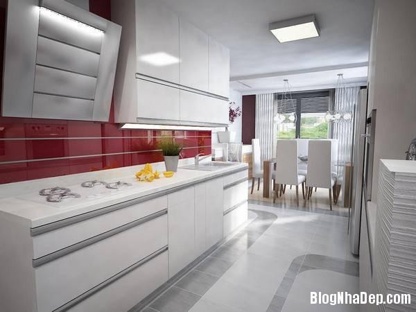 hinh 4 phong bep hien dai Mẫu căn hộ chung cư đẹp ở Slovakia