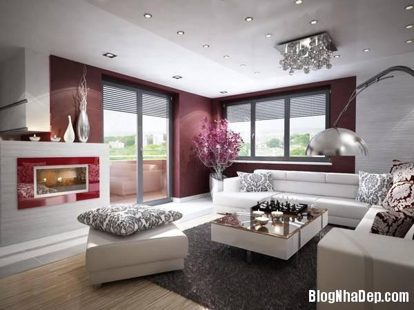 hinh 8 phong khach hien dai Mẫu căn hộ chung cư đẹp ở Slovakia