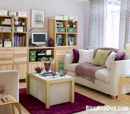 hoabtt20115318542741 1 Nới rộng không gian cho phòng khách hẹp