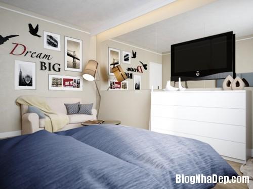 hut mat vao 48m coi mo tinh te 1 Cảm hứng sáng tạo trong thiết kế căn hộ 48m2