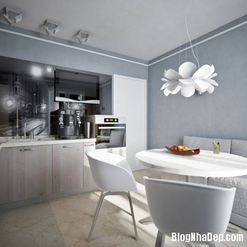 hut mat vao 48m coi mo tinh te 13 Cảm hứng sáng tạo trong thiết kế căn hộ 48m2