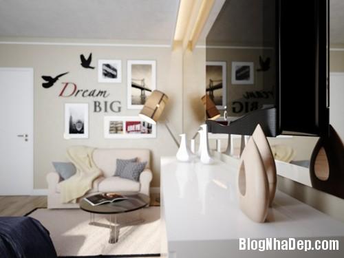 hut mat vao 48m coi mo tinh te 3 Cảm hứng sáng tạo trong thiết kế căn hộ 48m2