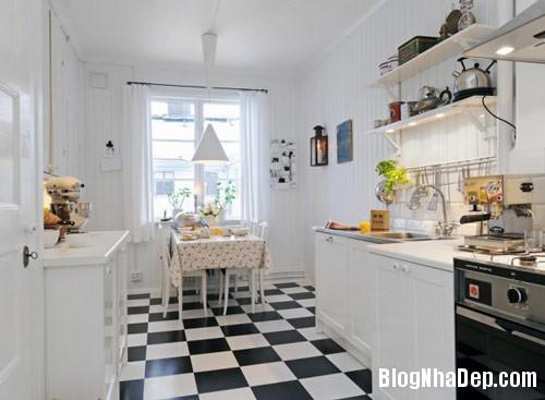 khong gian bep dep 1 Mẫu phòng bếp đẹp thiết kế theo phong cách Scandinavian
