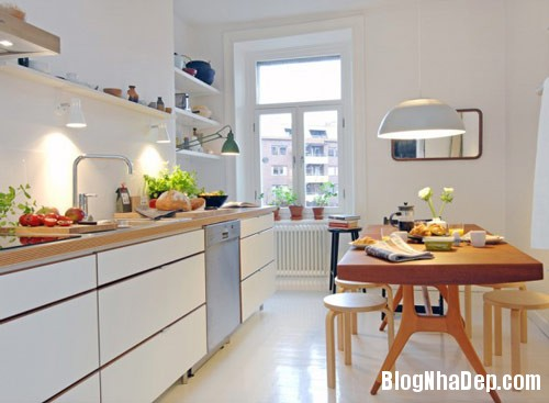 khong gian bep dep 9 Mẫu phòng bếp đẹp thiết kế theo phong cách Scandinavian