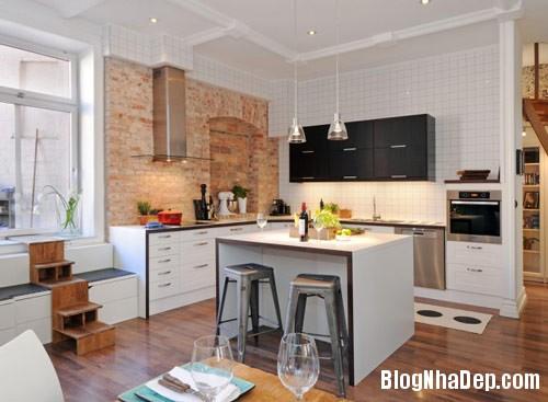 khong gian bep dep Mẫu phòng bếp đẹp thiết kế theo phong cách Scandinavian