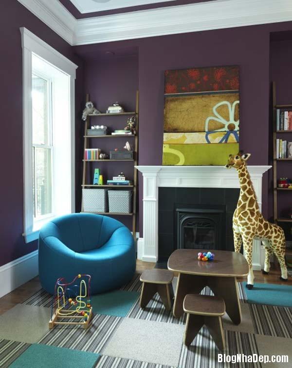 khong gian noi that phong khach1 Kết hợp màu sắc tươi sáng cho phòng khách
