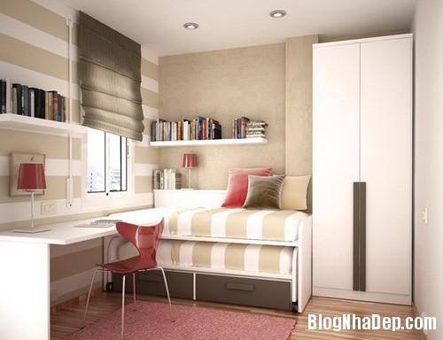khong gian phong ngu cua teen 1  Chọn nội thất cho phòng ngủ nhỏ