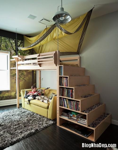 kid room 1 1403605050 Tạo không gian riêng cho trẻ trong nhà chật