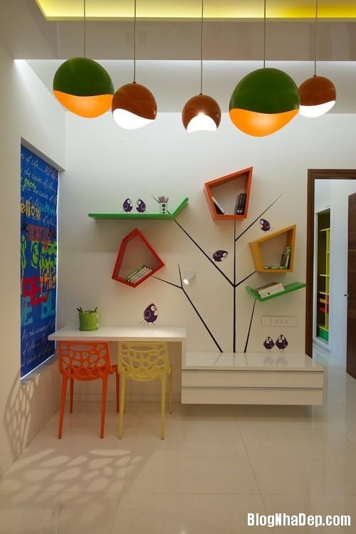 kid room 4 1jpg 1403605131 Tạo không gian riêng cho trẻ trong nhà chật