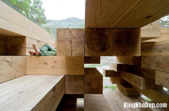 """kientrucnhadep nha go 03 Cùng ngắm mẫu nhà gỗ """"Final Wooden House"""" của kiến trúc sư Sou Fujimoto"""