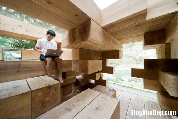 """kientrucnhadep nha go 04 Cùng ngắm mẫu nhà gỗ """"Final Wooden House"""" của kiến trúc sư Sou Fujimoto"""
