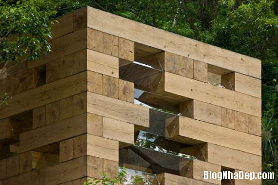 """kientrucnhadep nha go 07 Cùng ngắm mẫu nhà gỗ """"Final Wooden House"""" của kiến trúc sư Sou Fujimoto"""