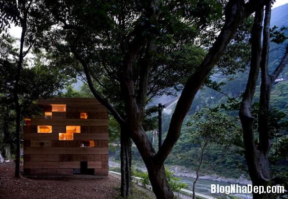 """kientrucnhadep nha go 08 Cùng ngắm mẫu nhà gỗ """"Final Wooden House"""" của kiến trúc sư Sou Fujimoto"""