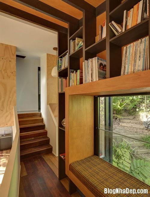 nha khong gian mo thoang 10 Căn nhà với hình dáng giống chiếc container ở New Zeeland