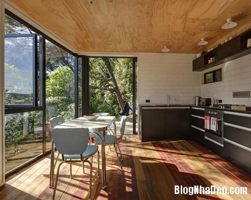nha khong gian mo thoang 2 Căn nhà với hình dáng giống chiếc container ở New Zeeland