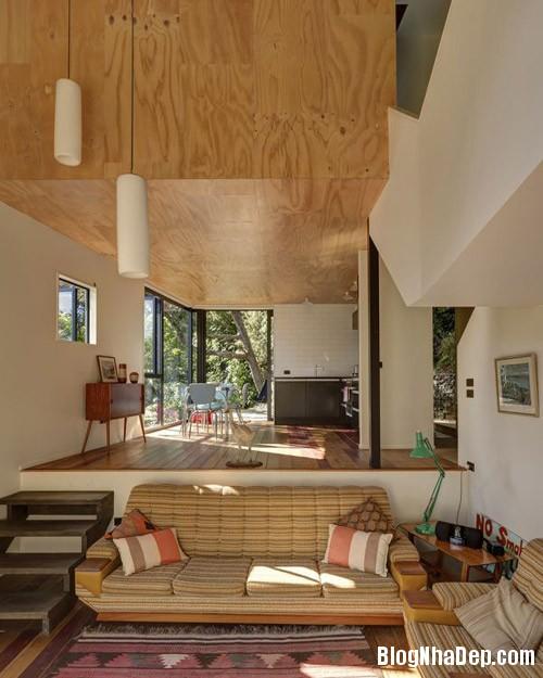 nha khong gian mo thoang 5 Căn nhà với hình dáng giống chiếc container ở New Zeeland