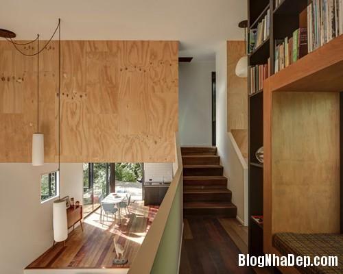 nha khong gian mo thoang 9 Căn nhà với hình dáng giống chiếc container ở New Zeeland